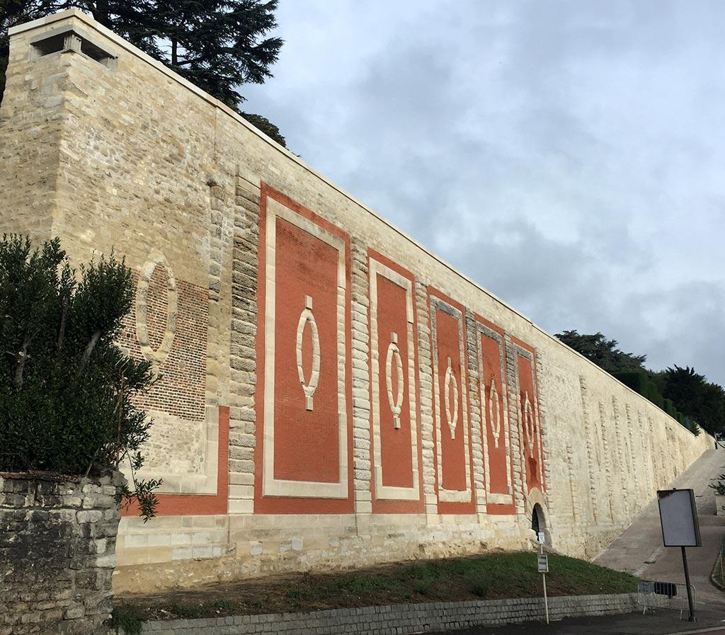MPR restauration du Mur des Lions